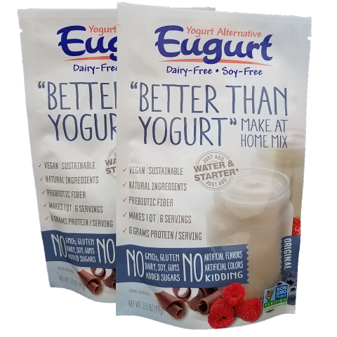 Eugurt Double - 12 servings (dairy-free and soy-free)